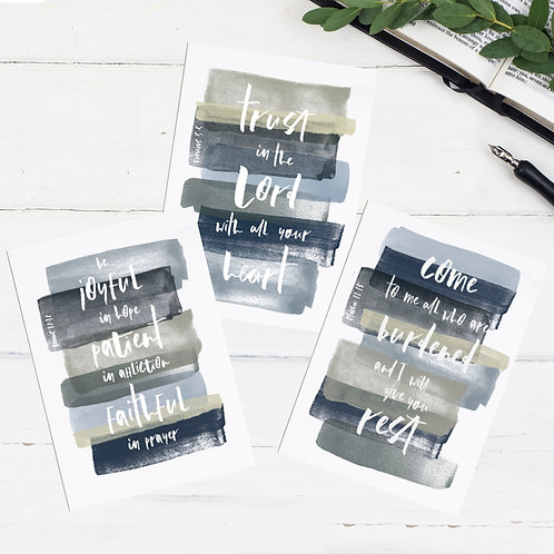 Encouraging Greeting Cards  - Set of Three