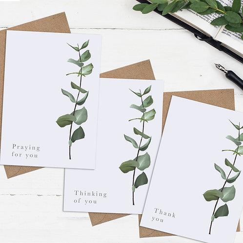 Botanical Occasional Cards  - Set of Three