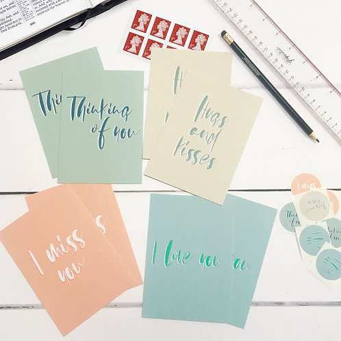 A Thoughtful Notecard Set + UK Stamps