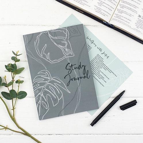 Bible True Vine Study Journal - Tropical Green