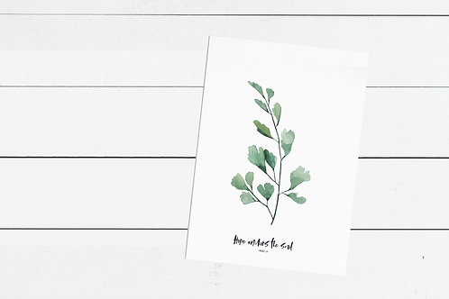 Green Maidenhead Fern Print - Hebrews 6:19