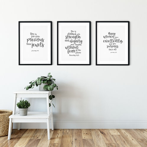 Proverbs Print Set For Her
