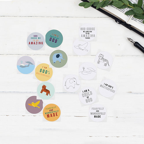 Fearfully And Wonderfully Made Bible Art Stickers
