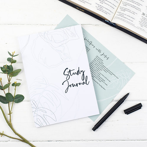 Bible True Vine Study Journal - Artic White