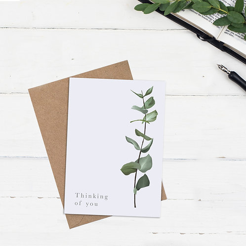 Thinking Of You Botanical Card - Numbers 6: 24-26