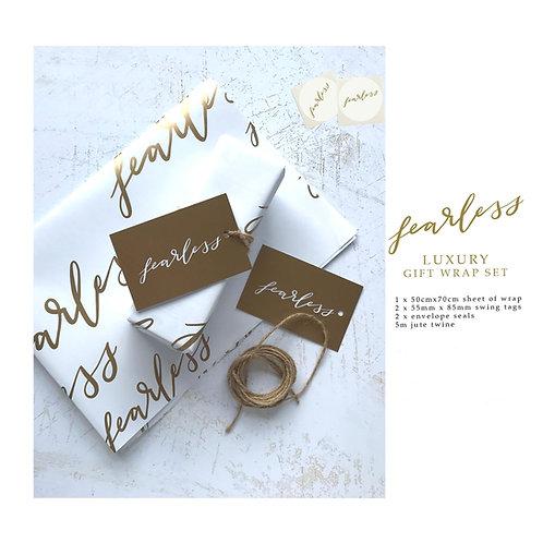 Luxury Gift Wrap Set - Fearless