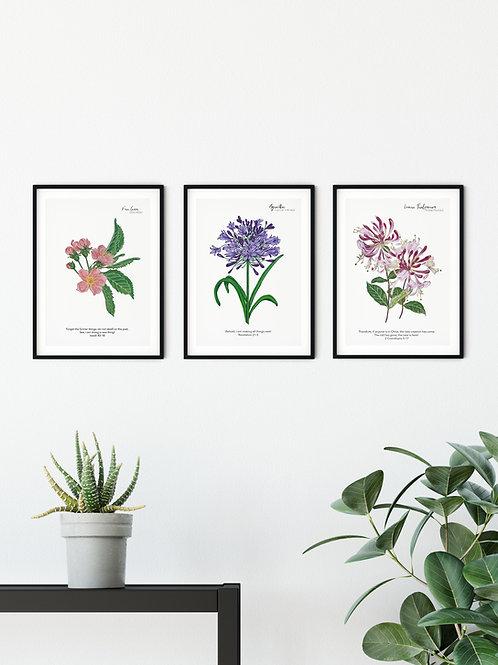 New Beginnings Vintage Floral Print Set