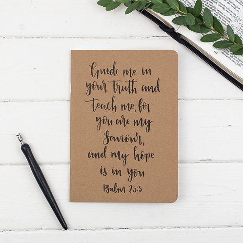 Guide Me In Your Truth Prayer Journal - Psalm 25:5