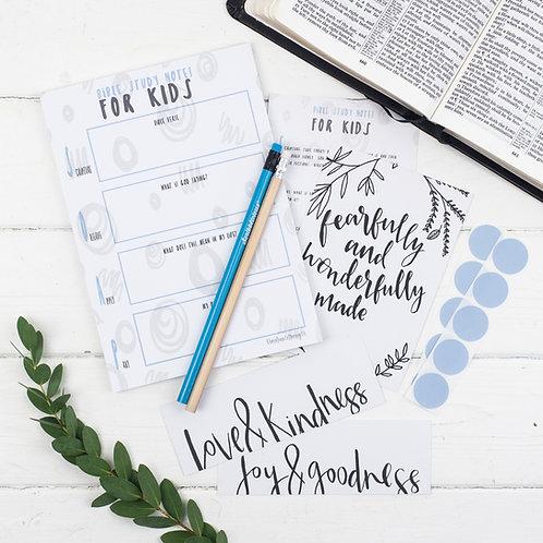 Bible Study Set For Kids - Joyful