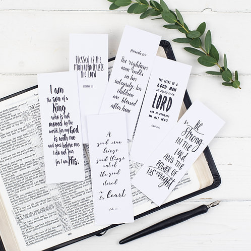 Scripture Bookmarks For Him