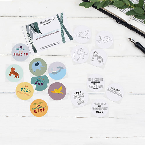 All Things Bright And Beautiful Bible Art Stickers