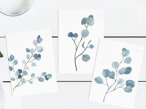 Botanical Occasional Cards  - Set of Three
