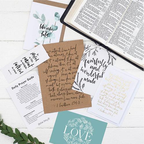 Love Is Patient Prayer Journal Gift Set - 1 Corinthians 13:4-8
