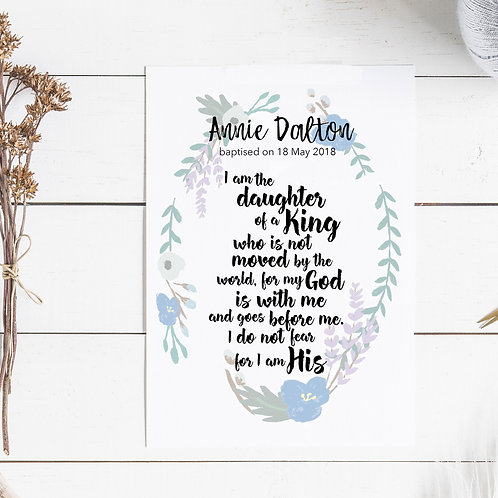 Personalised Print - Daughter of the King