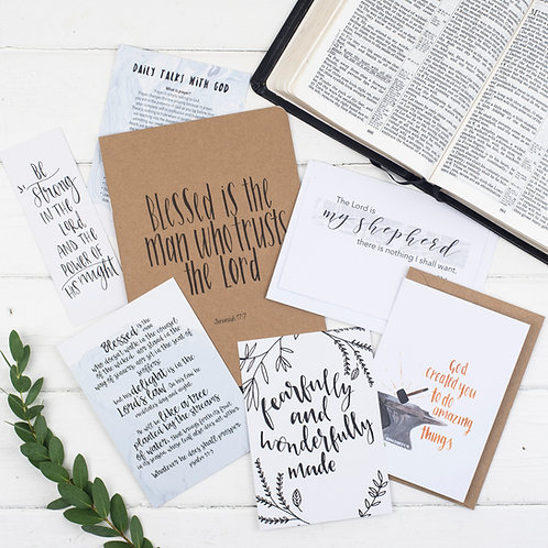 Blessed Is The Man Prayer Journal Gift Set For Him - Jeremiah 17:7