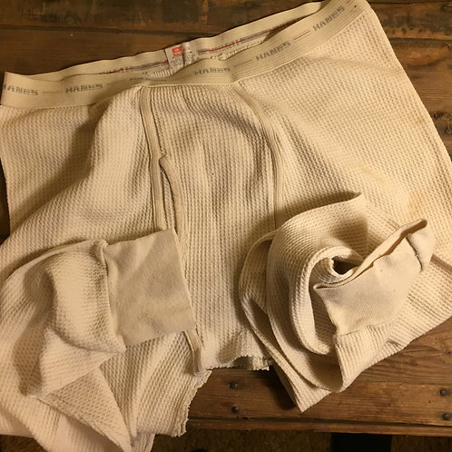 Thermals - Hanes Red stripe -Large