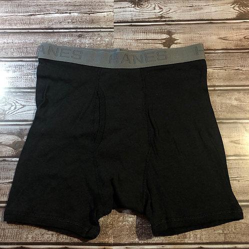 Hanes Black/Gray Boxer Briefs