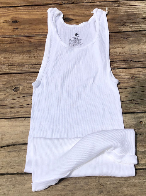 """Hanes Comfort Soft """"Wife Beater"""" A-Frame White"""