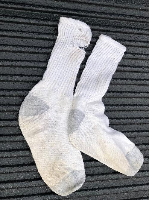 White Crew Socks