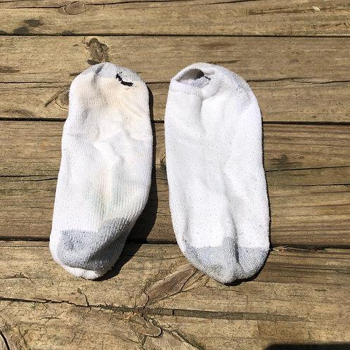 Hanes White Low Cut Socks