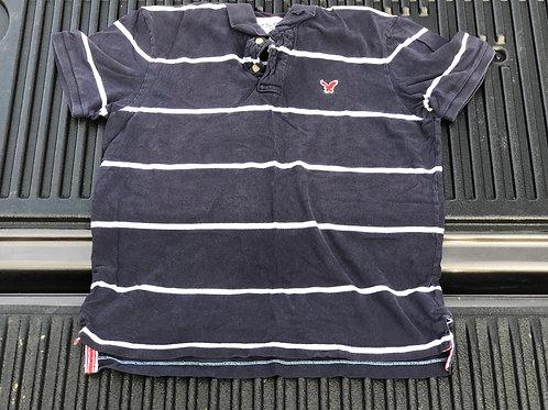 Blue/White Striped AE Polo Shirt