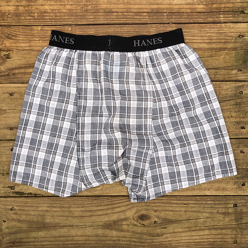 Hanes Wide WaistBand Light Grey Striped Boxers