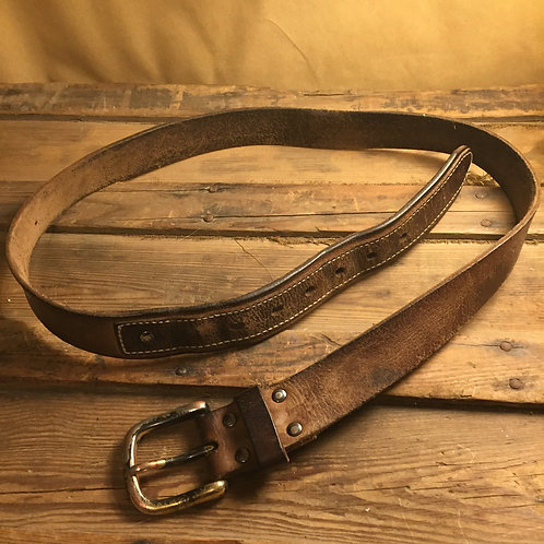 Leather Brown Stitched Belt