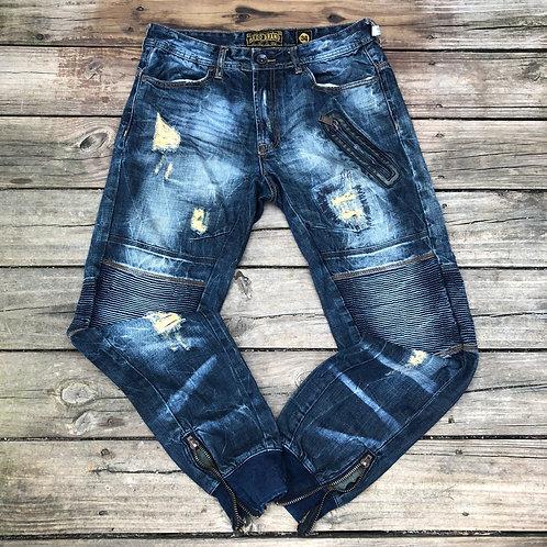 Akoo Brand Zipper Jeans