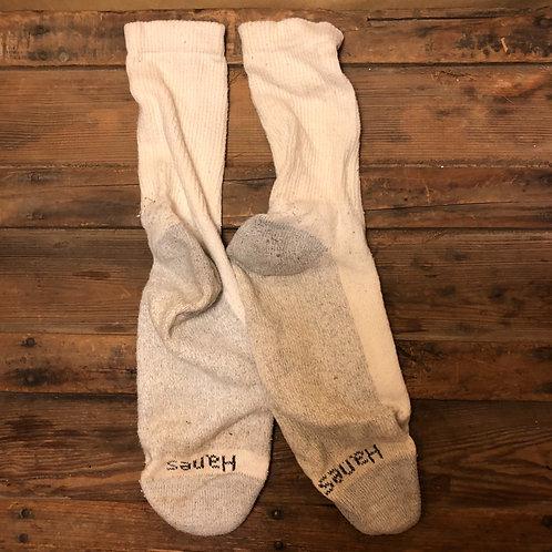 Hanes White Crew Socks