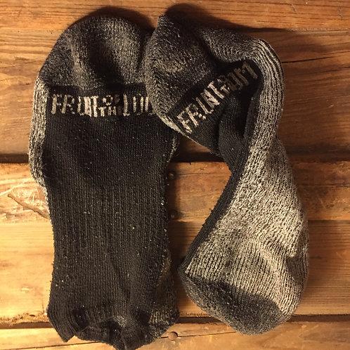 Fruit of the Loom Black/Grey NoShow Socks