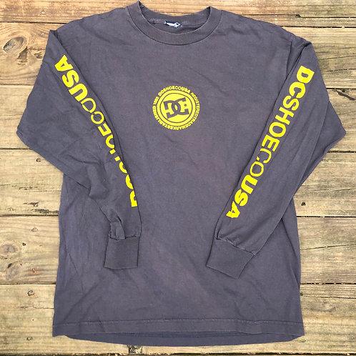 Grey Long Sleeve DC SHOE CO T-Shirt