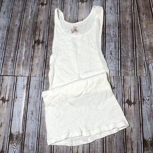 """Hanes Red Label """"Wife Beater"""" A-Frame White"""