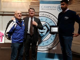 """SARWAR GHULAM DEI BLUE FIRE PREMIATO FRA I """"CAMPIONI DELLA LEONESSA 2016"""" PER I RISULTATI"""