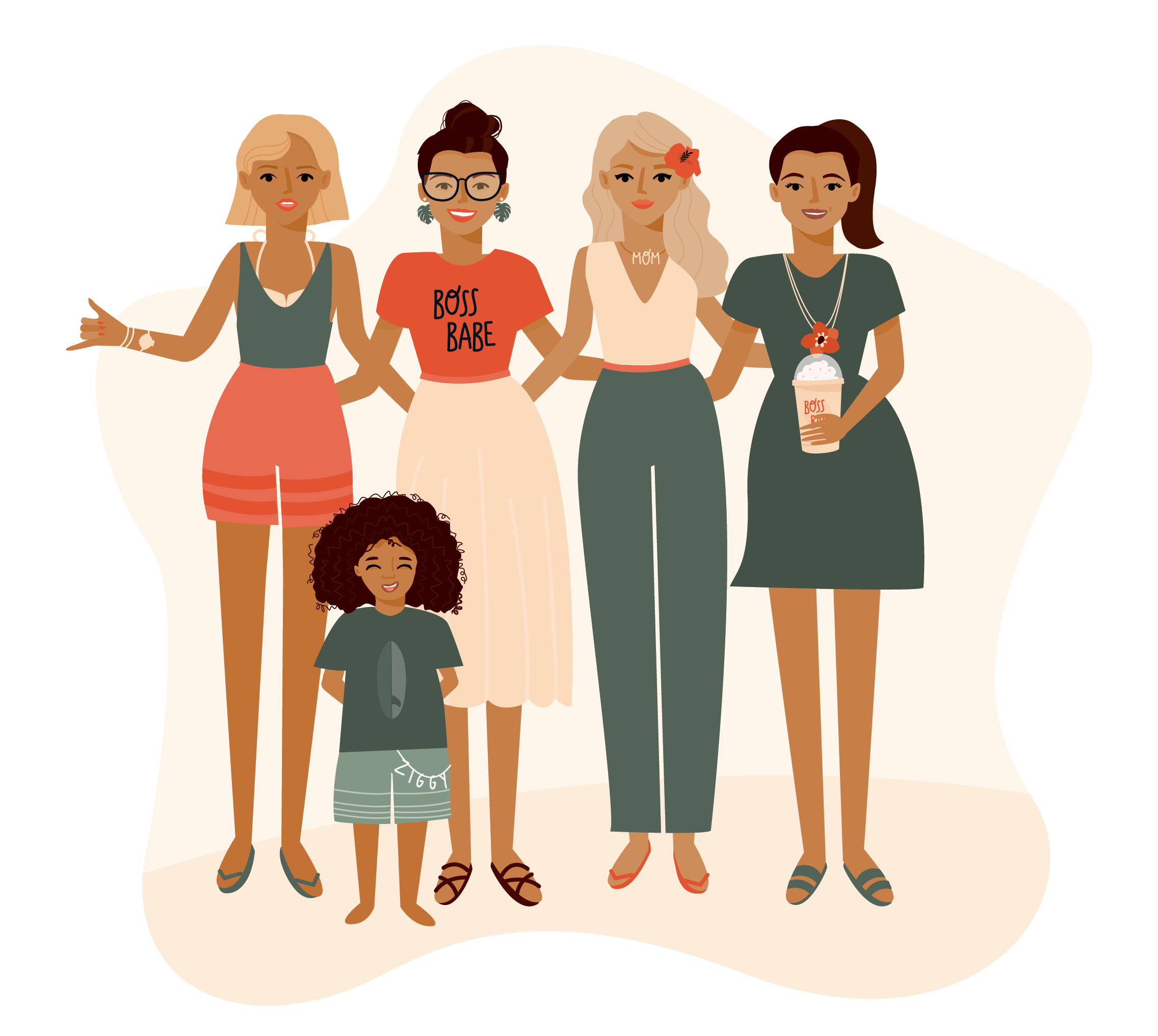 "Illustration ""Geeky Mama Group"""