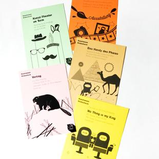 Printmedien u. a. Flyer für den Kunstverein Hildesheim