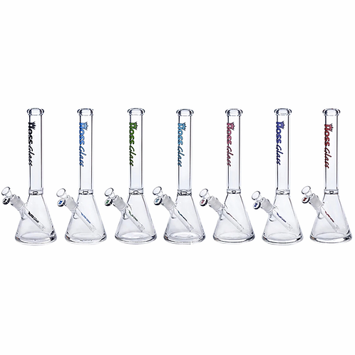 """Hoss Glass 18"""" 50mm Beaker w/ Coloured Logo"""