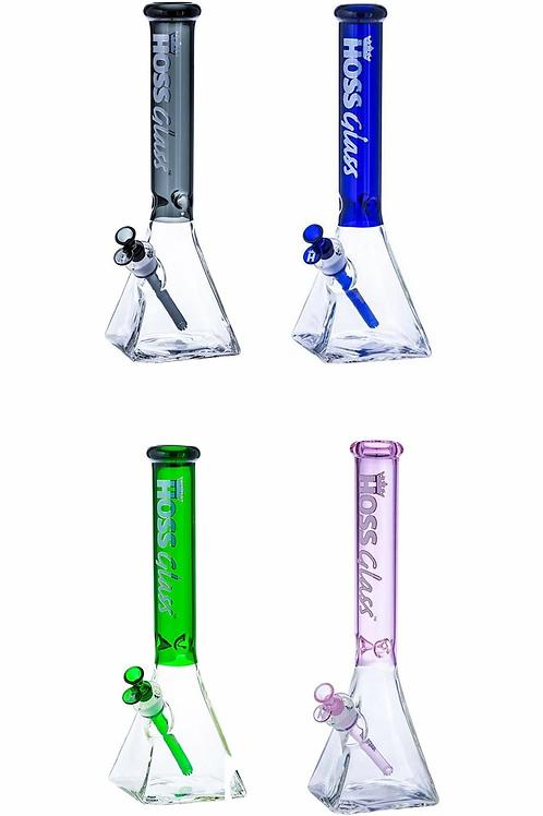 "Hoss Glass 16"" Pyramid Base Coloured Top Beaker"