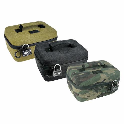 RYOT Safe Case Carbon Series w/ SmellSafe & Lockable Technology w/ Lock - Large