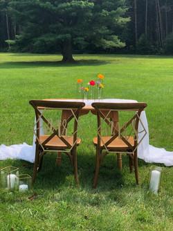 Farmhouse Sweetheart Chairs