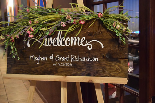 Welcome Sign-Personalized