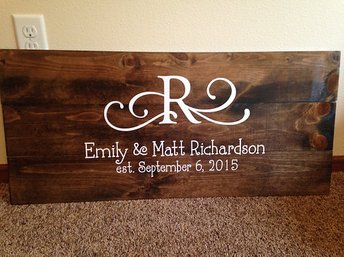 Monogram Sign-Personalized