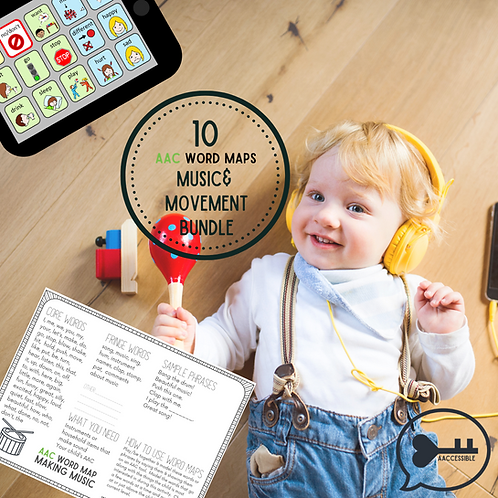 AAC Word Maps Bundle-Music & Movement