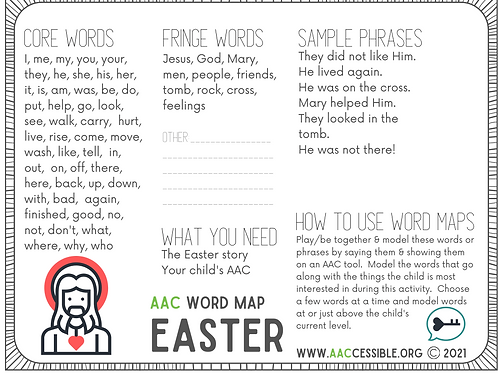 AAC Word Map-Easter Christian