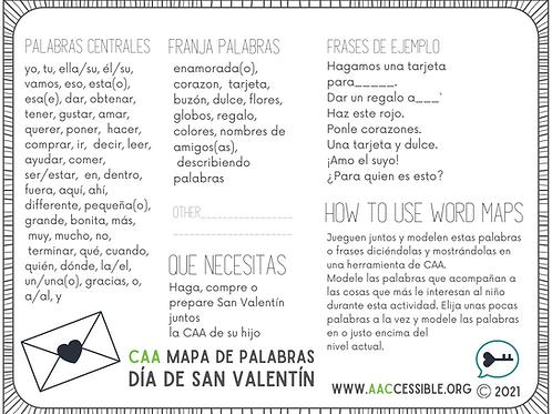 CAA Mapa de las Palabras-Dia de San Valentin