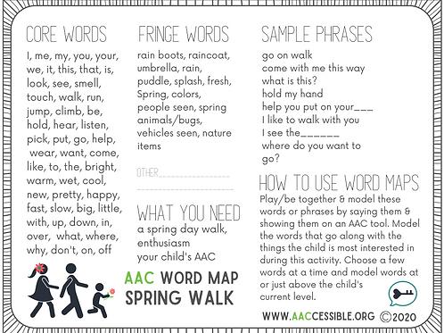 AAC Word Map- Spring Walk