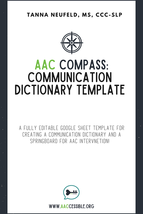 AAC Compass Communication Dictionary Template