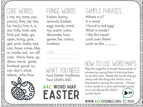 AAC Word Map-Easter Secular