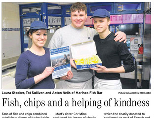 Marino holds a grand fish and chip fundraiser