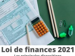 Loi de Finances pour 2021 : les principales dispositions