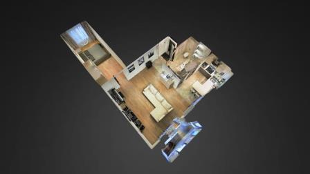 3D тур Matterport по 2-х комнатным квартирам.